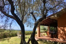 Ferienhaus in Guardistallo - Casetta Gaia sea view Toscana Tour